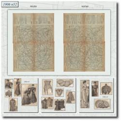 Patrons de La Mode Illustrée 1906 N°52