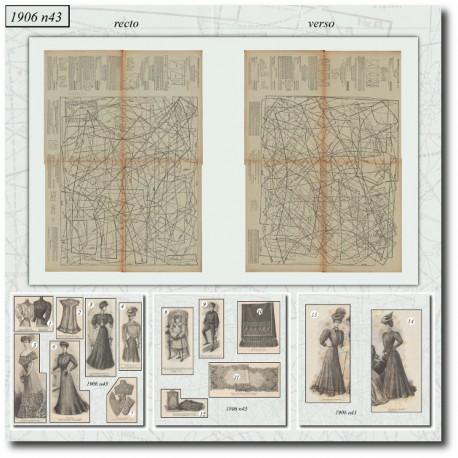 Patrons de La Mode Illustrée 1906 N°43