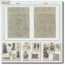 Patrons de La Mode Illustrée 1906 N°45