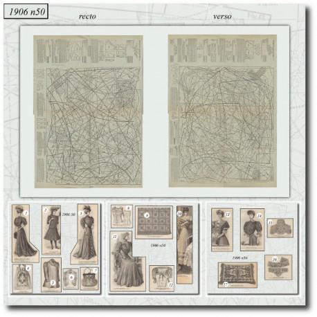 Patrons de La Mode Illustrée 1906 N°50