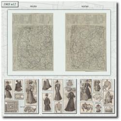 Patrons de La Mode Illustrée 1905 N°12