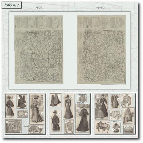 Sewing patterns La Mode Illustrée 1905 N°12