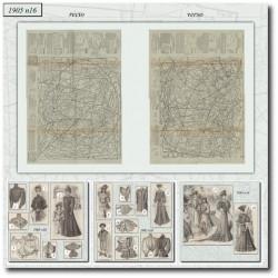 Patrons de La Mode Illustrée 1905 N°16