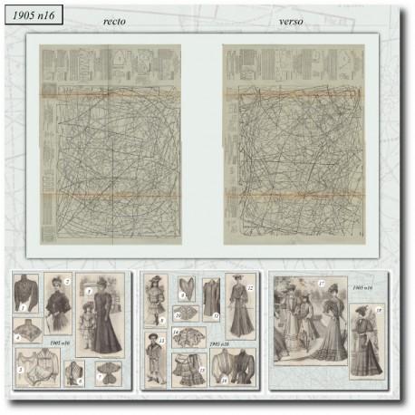 Sewing patterns La Mode Illustrée 1905 N°16