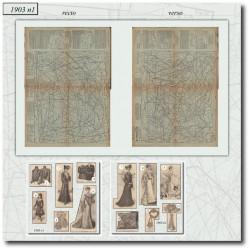 Patrons de La Mode Illustrée 1903 N°1