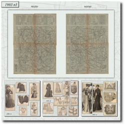 Patrons de La Mode Illustrée 1903 N°5