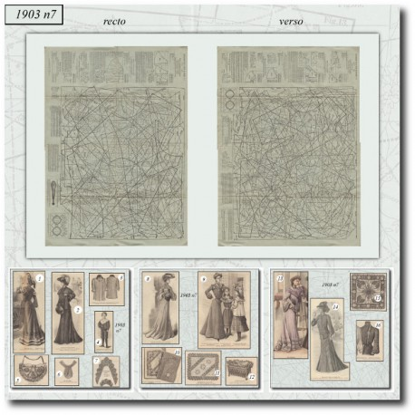 Patrons de La Mode Illustrée 1903 N°7
