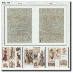Patrons de La Mode Illustrée 1903 N°10