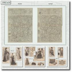 Patrons de La Mode Illustrée 1903 N°16