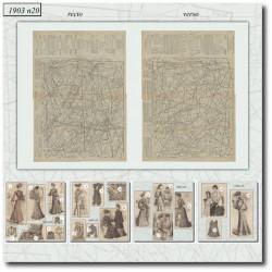 Patrons de La Mode Illustrée 1903 N°20