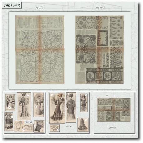 Patrons de La Mode Illustrée 1903 N°33
