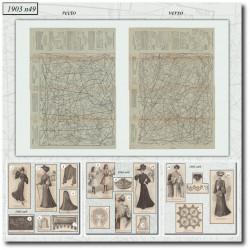 Patrons de La Mode Illustrée 1903 N°49