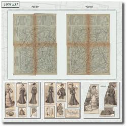Patrons de La Mode Illustrée 1903 N°51