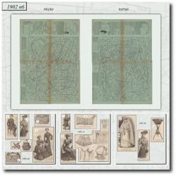 Patrons de La Mode Illustrée 1902 N°6