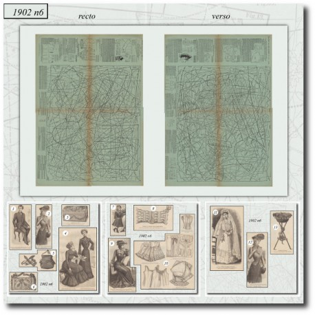 Sewing patterns La Mode Illustrée 1902 N°6