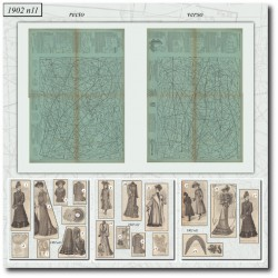 Edwardian sewing patterns La Mode Illustrée 1902 N°11