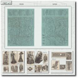 Patrons de La Mode Illustrée 1902 N°13