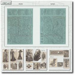 Sewing patterns La Mode Illustrée 1902 N°13
