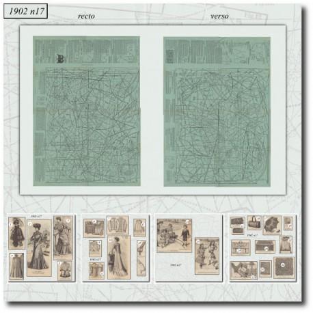 Edwardian sewing patterns La Mode Illustrée 1902 N°17
