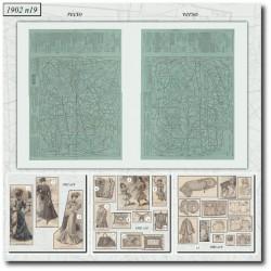 vykrojku La Mode Illustrée 1902 N°19