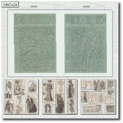 Sewing patterns La Mode Illustrée 1902 N°24
