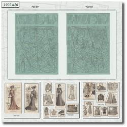 Patrons de La Mode Illustrée 1902 N°26