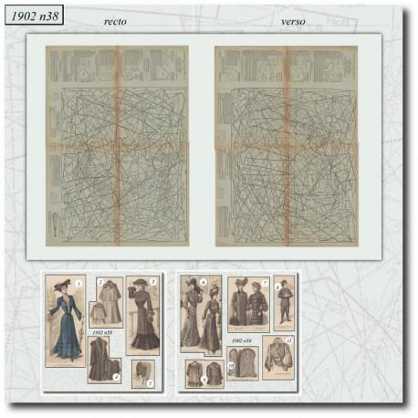 Sewing patterns La Mode Illustrée 1902 N°38