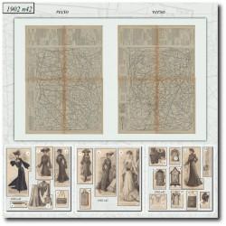 Patrons de La Mode Illustrée 1902 N°42