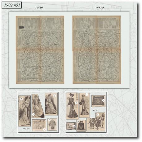 Sewing patterns La Mode Illustrée 1902 N°51