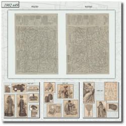 Patrons de La Mode Illustrée 1902 N°49