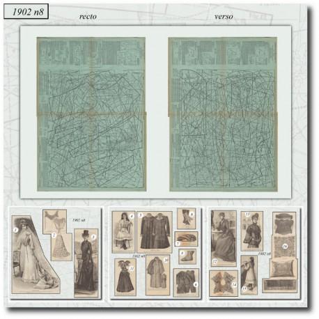 Edwardian sewing patterns La Mode Illustrée 1902 N°8