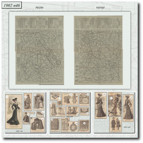 Patrons de La Mode Illustrée 1902 N°46