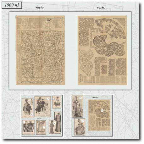 Sewing patterns La Mode Illustrée 1900 03