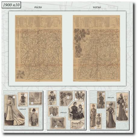 Sewing patterns La Mode Illustrée 1900 N°10