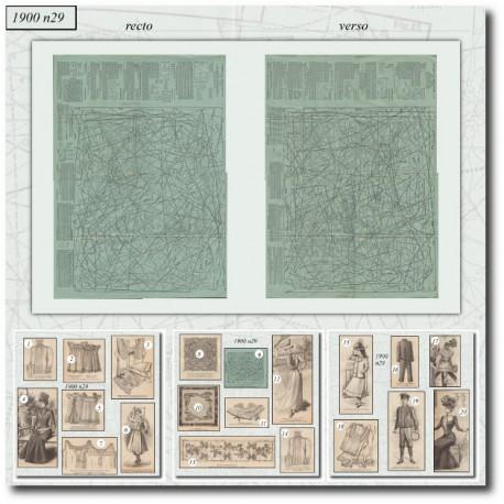 Sewing patterns La Mode Illustrée 1900 N°29