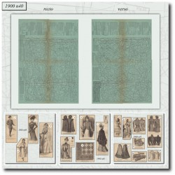 Patrons de La Mode Illustrée 1900 N°40