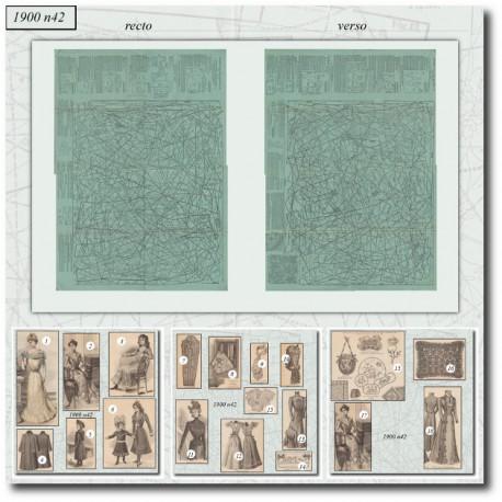 Patrons de La Mode Illustrée 1900 N°42