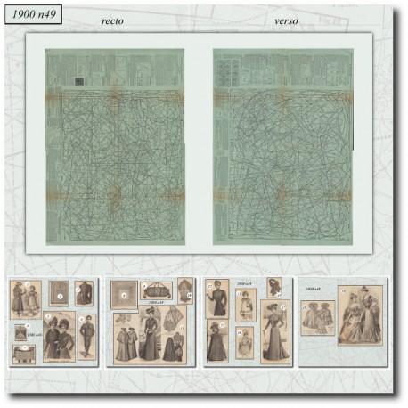 Sewing patterns La Mode Illustrée 1900 N°49