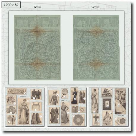 Patrons de La Mode Illustrée 1900 N°50