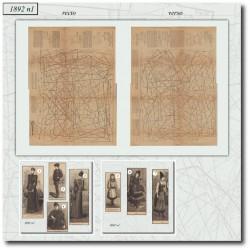 vykrojku La Mode Illustrée 1892 N°01