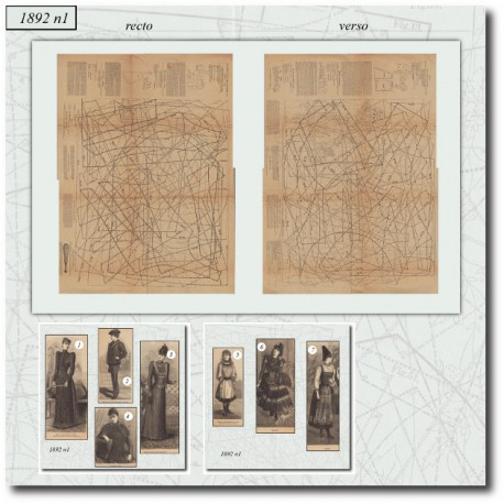 Sewing patterns La Mode Illustrée 1892 N°01