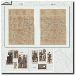 выкройку Эра Victorian La Mode Illustrée 1892 N°05