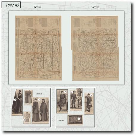 Sewing patterns La Mode Illustrée 1892 N°05