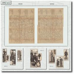 vykrojku La Mode Illustrée 1892 N°12-выкройку Эра Victorian