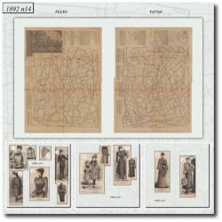 выкройку Эра Victorian La Mode Illustrée 1892 N°14