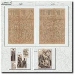 Patrons de La Mode Illustrée 1892 N°18