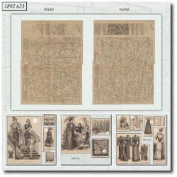 Sewing patterns La Mode Illustrée 1892 N°23