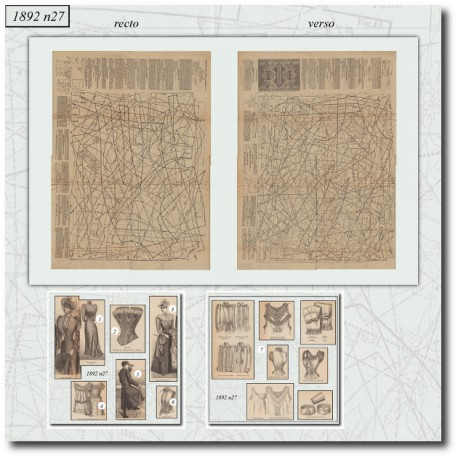 Sewing patterns corset La Mode Illustrée 1892 N°27