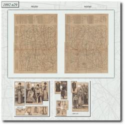 Sewing patterns La Mode Illustrée 1892 N°29