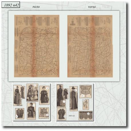 Sewing patterns La Mode Illustrée 1892 N°42